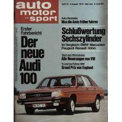 auto motor & sport Heft 16 / 6 August 1976 - Der neue Audi 100
