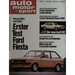 auto motor & sport Heft 14 / 7 Juli 1976 - Ford Fiesta