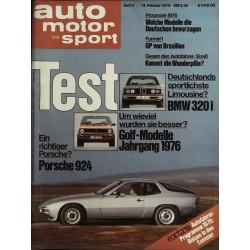 auto motor & sport Heft 4 / 14 Februar 1976 - Porsche 924