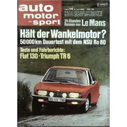 auto motor & sport Heft 14 / 5 Juli 1969 - NSU Ro 80