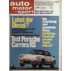 auto motor & sport Heft 10 / 11 Mai 1974 - Porsche Carrera RS