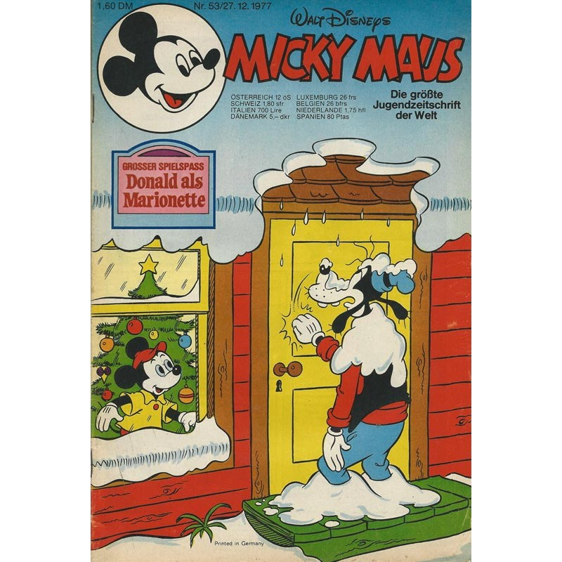 Micky Maus Nr. 53 / 27 Dezember 1977 - Donald als Marionette