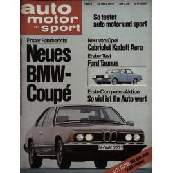auto motor & sport Heft 6 / 13 März 1976 - BMW Coupe
