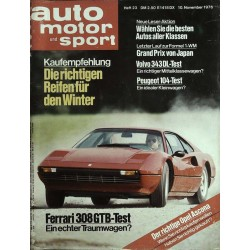 auto motor & sport Heft 23 / 10 Nov. 1976 - Ferrari 308 GTB