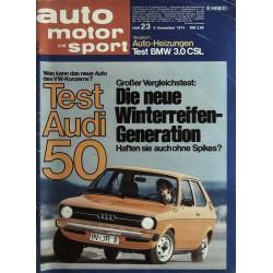 auto motor & sport Heft 23 / 9 November 1974 - Audi 50