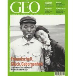 Geo Nr. 11 / November 2001 - Freundschaft, Glück, Geborgenheit