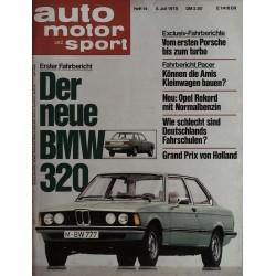auto motor & sport Heft 14 / 5 Juli 1975 - Der neue BMW 320
