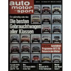 auto motor & sport Heft 22 / 26 Okt. 1977 - Gebrauchtwagen