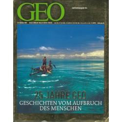 Geo Nr. 10 / Oktober 2001 - 25 Jahre GEO Jubiläumsausgabe