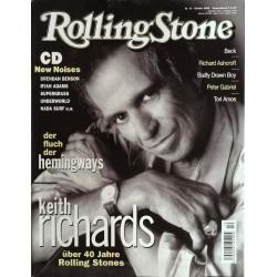 Rolling Stone Nr.10 / Oktober 2002 & CD Vol. 55 - Keith Richards