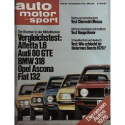 auto motor & sport Heft 26 / 20 Dezember 1975 - Die Mittelklasse