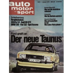 auto motor & sport Heft 1 / 3 Januar 1976 - Der neue Ford Taunus