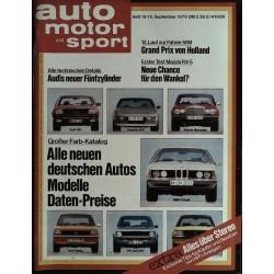 auto motor & sport Heft 19 / 15 September 1976 - Deutsche Autos