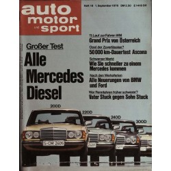 auto motor & sport Heft 18 / 1 September 1976 - Mercedes Diesel