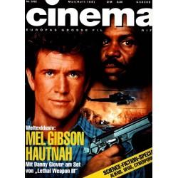 CINEMA 5/92 Mai 1992 - Mel Gibson hautnah
