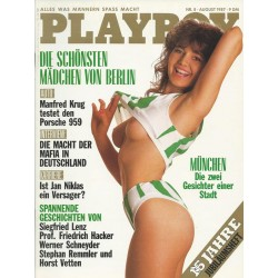 Playboy Nr.8 / August 1987 - Playmate Susanne Meyer