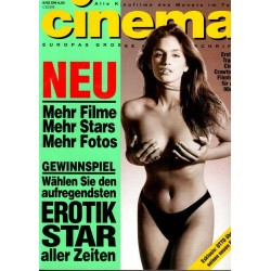 CINEMA 8/92 August 1992 - Erotiktraum Cindy Crawford