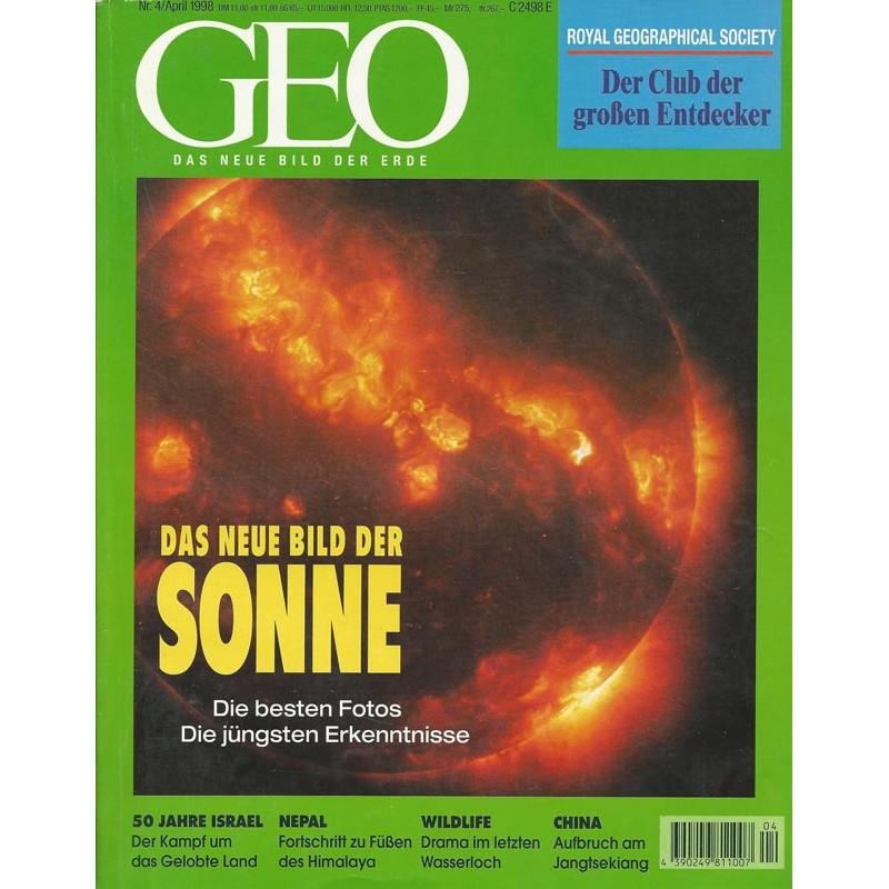 Geo Nr. 4 / April 1998 - Das neue Bild der Sonne