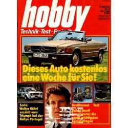 Hobby Nr.9 / 28 April 1980 - Mercedes kostenlos