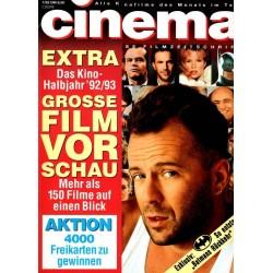 CINEMA 7/92 Juli 1992 - Bruce Willis in Altmans Player
