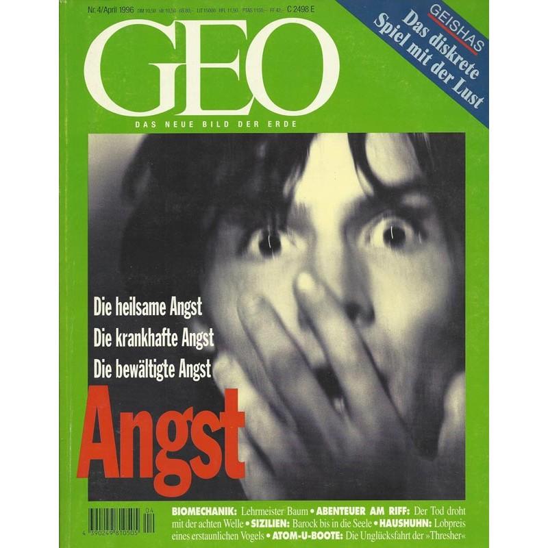 Geo Nr. 4 / April 1996 - Angst