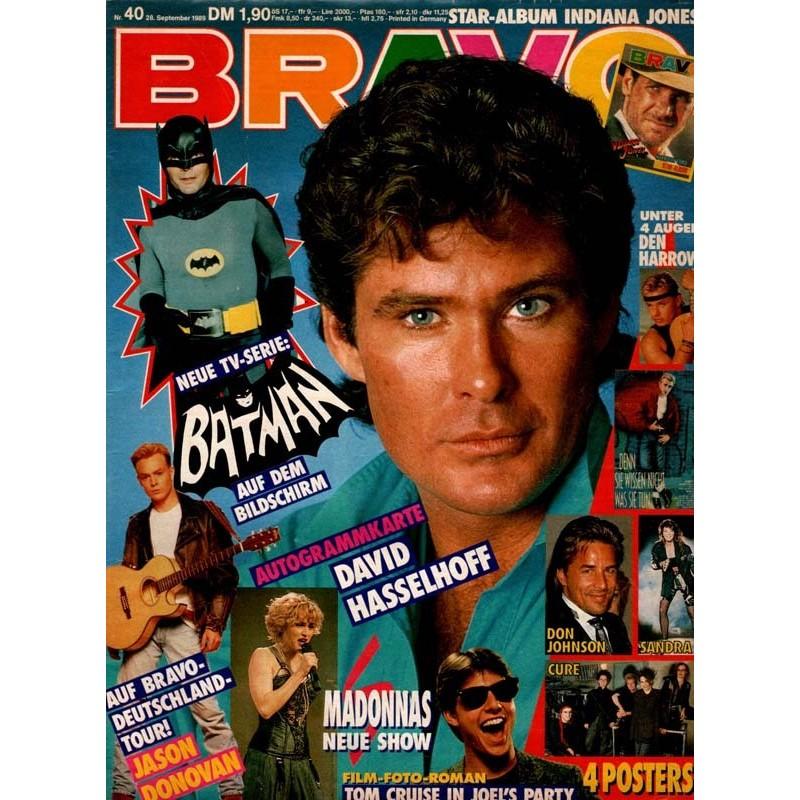 BRAVO Nr.40 / 28 September 1989 - David Hasselhoff