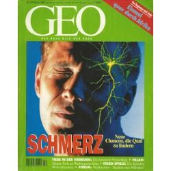 Geo Nr. 10 / Oktober 1995 - Schmerz