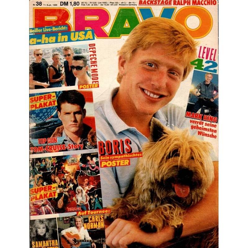 BRAVO Nr.38 / 11 September 1986 - Boris Becker