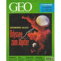 Geo Nr. 7 / Juli 1998 - Odysee zum Jupiter