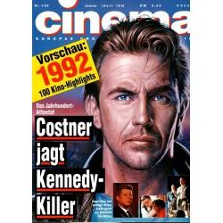 CINEMA 1/92 Januar 1992 - Costner jagt Kennedy Killer