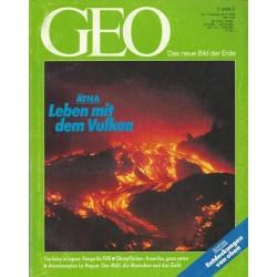 Geo Nr. 7 / Juli 1992 - Ätna Leben mit dem Vulkan
