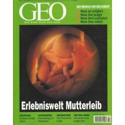 Geo Nr. 7 / Juli 2001 - Erlebniswelt Mutterleib