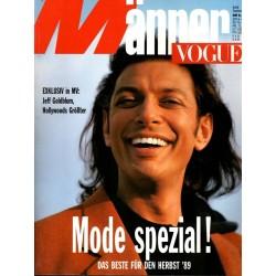 Männer Vogue 9/September 1989 - Jeff Goldblum