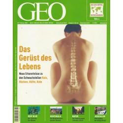 Geo Nr. 2 / Februar 2004 - Das Gerüst des Lebens