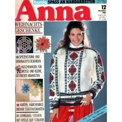 Anna burda Spaß an Handarbeiten 12/Dezember 1989 - Weihnachten