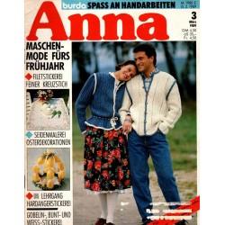 Anna burda Spaß an Handarbeiten 3/März 1989 - Maschenmode