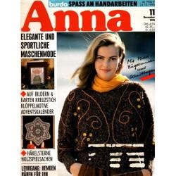 Anna burda Spaß an Handarbeiten 11/November 1990 - Elegant