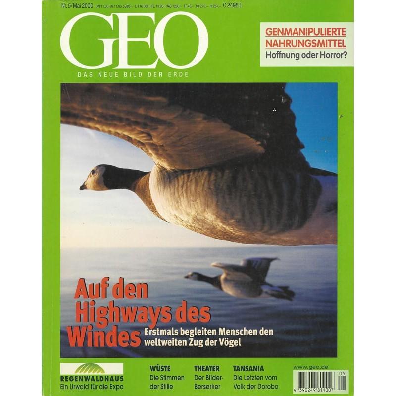 Geo Nr. 5 / Mai 2000 - Auf den Highways des Windes