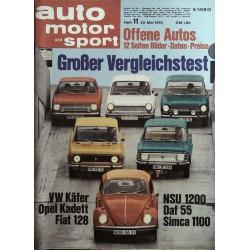 auto motor & sport Heft 11 / 23 Mai 1970 - Großer Vergleichstest