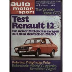 auto motor & sport Heft 9 / 25 April 1970 - Test Renault 12