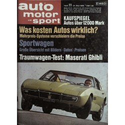 auto motor & sport Heft 11 / 24 Mai 1969 - Maserati Ghibli