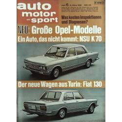 auto motor & sport Heft 6 / 15 März 1969 - Fiat 130