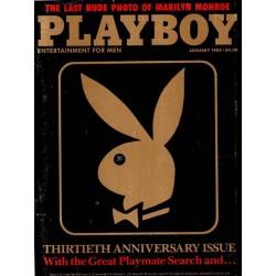 Playboy USA Nr.1 / Januar 1984 - Penny Baker & Rabbit