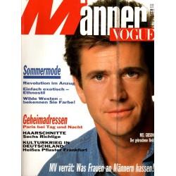 Männer Vogue 4/April 1989 - Mel Gibson