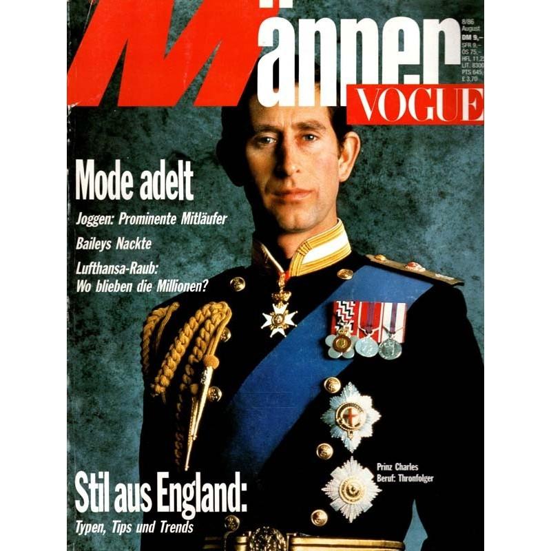 Männer Vogue 8/August 1986 - Prinz Charles