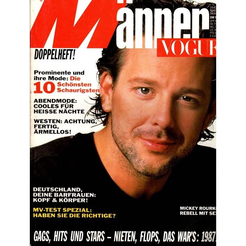Männer Vogue 11-12/Nov.-Dez.1987 - Mickey Rourke