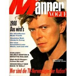 Männer Vogue 1/Januar1988 - David Bowie