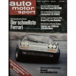 auto motor & sport Heft 8 / 10 April 1976 - Berlinetta Boxer