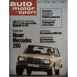 auto motor & sport Heft 10 / 8 Mai 1976 - Neuer Mercedes 280