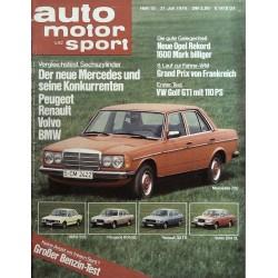 auto motor & sport Heft 15 / 21 Juli 1976 - Mercedes